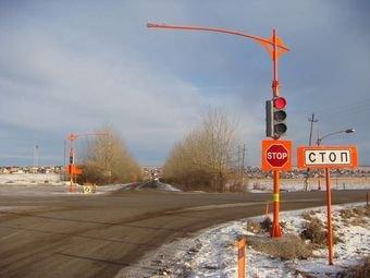 На аварийном участке трассы Красноярск — Элита появился «умный» светофор