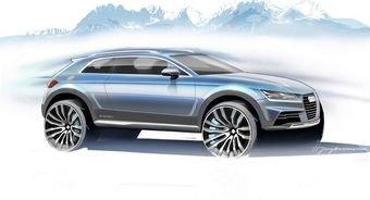Audi показала скетчи нового кроссовера